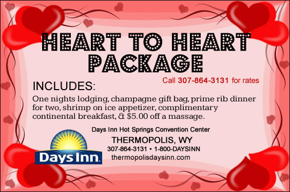 Valentine's Day Hotel Special, Thermopolis, Wyoming