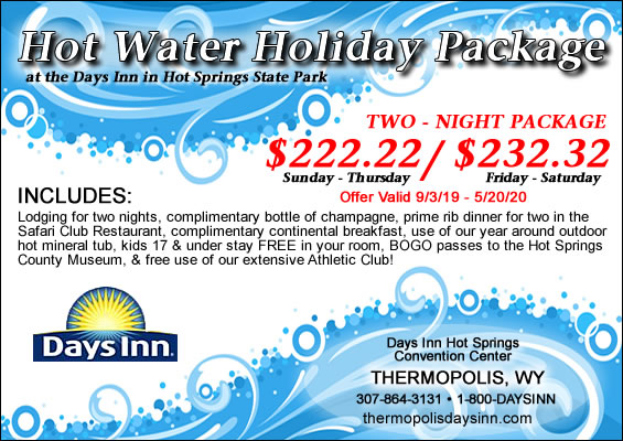 Hot Water Holiday Package at the Days Inn, Thermopolis, Wyoming